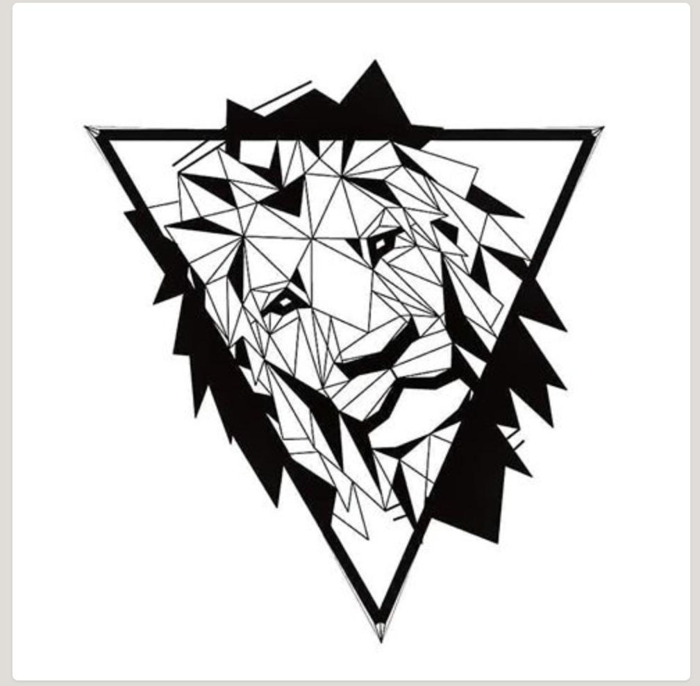 Pin By Praneeth Doppala On Tattoos Geometric Lion Geometric Lion Tattoo Framed Tattoo