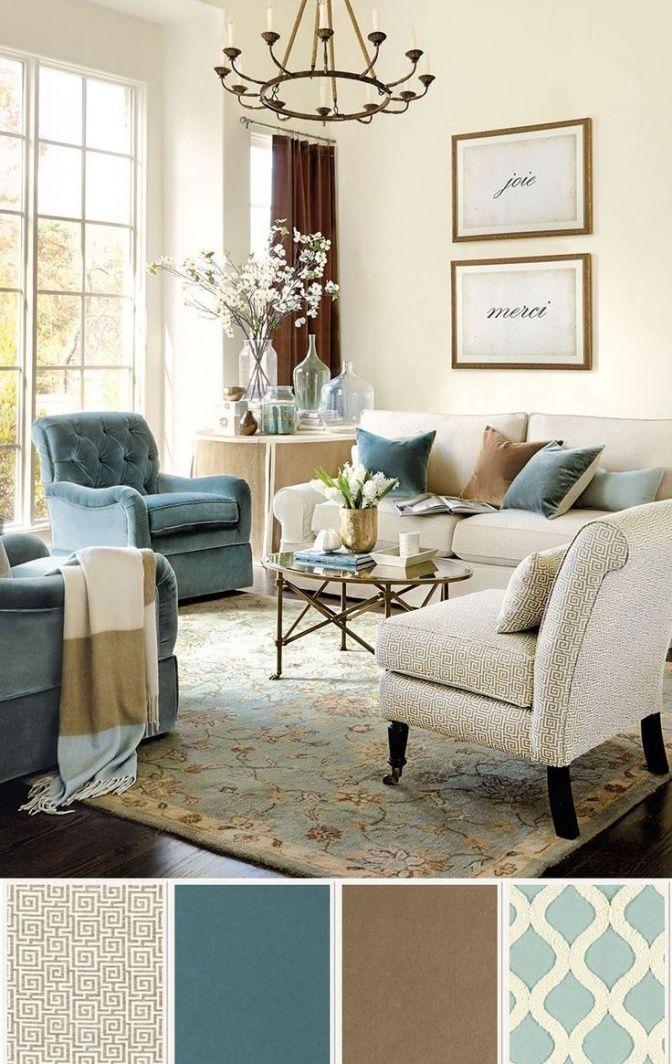 Сочетание Цветов В Интерьере Полезные Подсказки  Гостинная Brilliant Blue Color Living Room Design Decoration