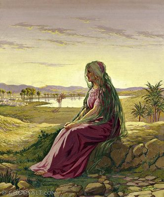 Hagar by the well | Bible pictures, Bible illustrations, Biblical art