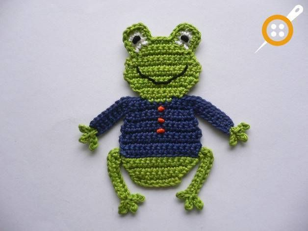 Photo of Tierische Strickapplikationen mit Froschmotiv – #Froschmotiv #mit #Strickapplika…