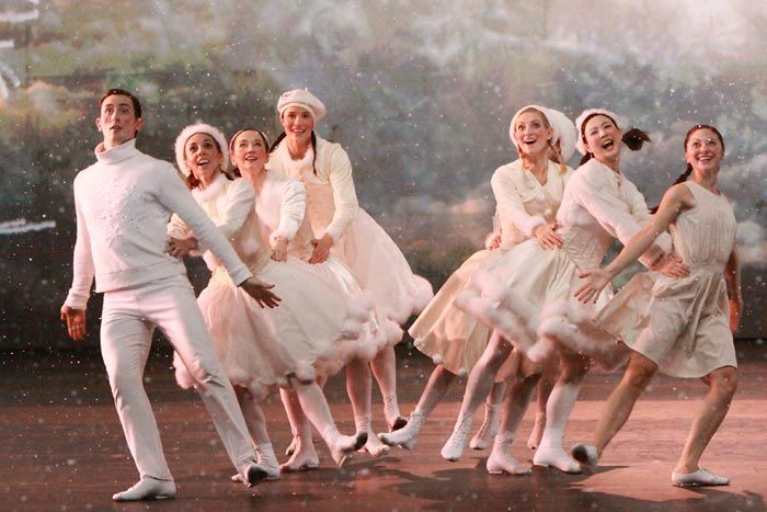 """NUTCRACKER! (1992) """"Snowflakes"""": Featuring Dominic North, Ashley Shaw, Christopher Trenfield and Hannah Vassallo with Sophia Hurdley and Liam Mower with the Nutcracker! Company"""