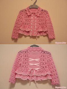La chaqueta para la princesa Marguerite (el modelo de Alla Koval) - Todo en azhure... (La labor de punto por el gancho #uncinettoperbambina