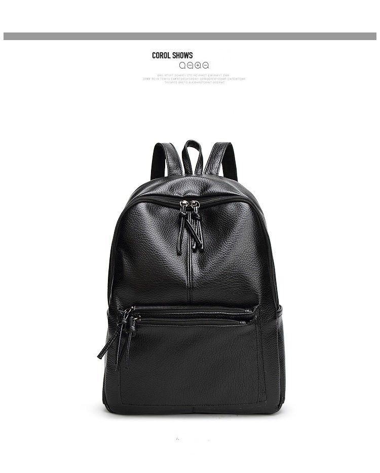 157f2f2de9b2 Leather ·  28.07 - Cool Bolish New Travel Backpack Korean Women Female  Rucksack Leisure Student School bag Soft