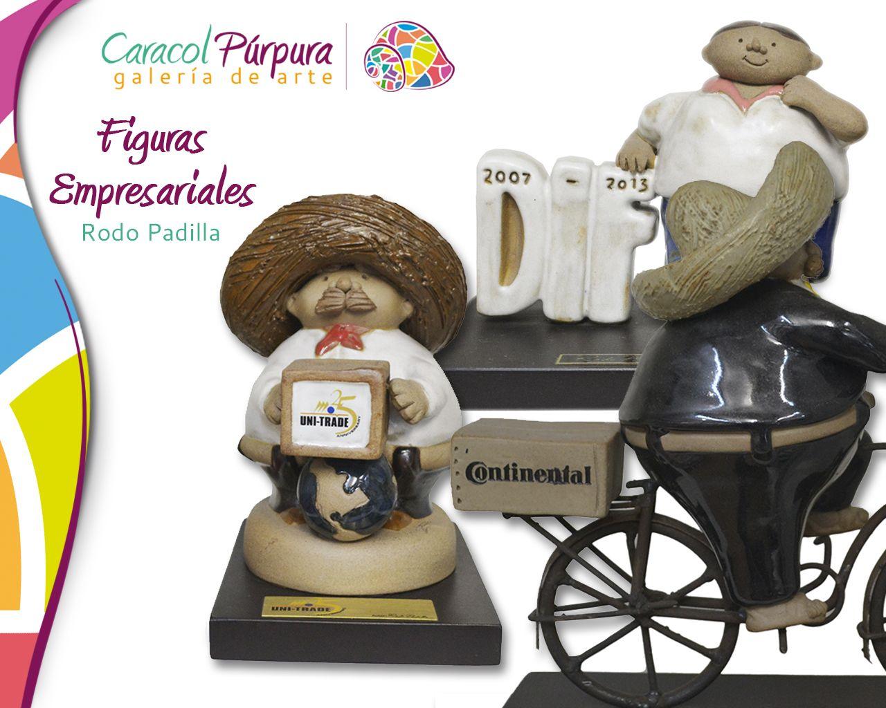 Figuras empresariales. Rodo Padilla. Disponibles para su venta en Caracol Purpura.