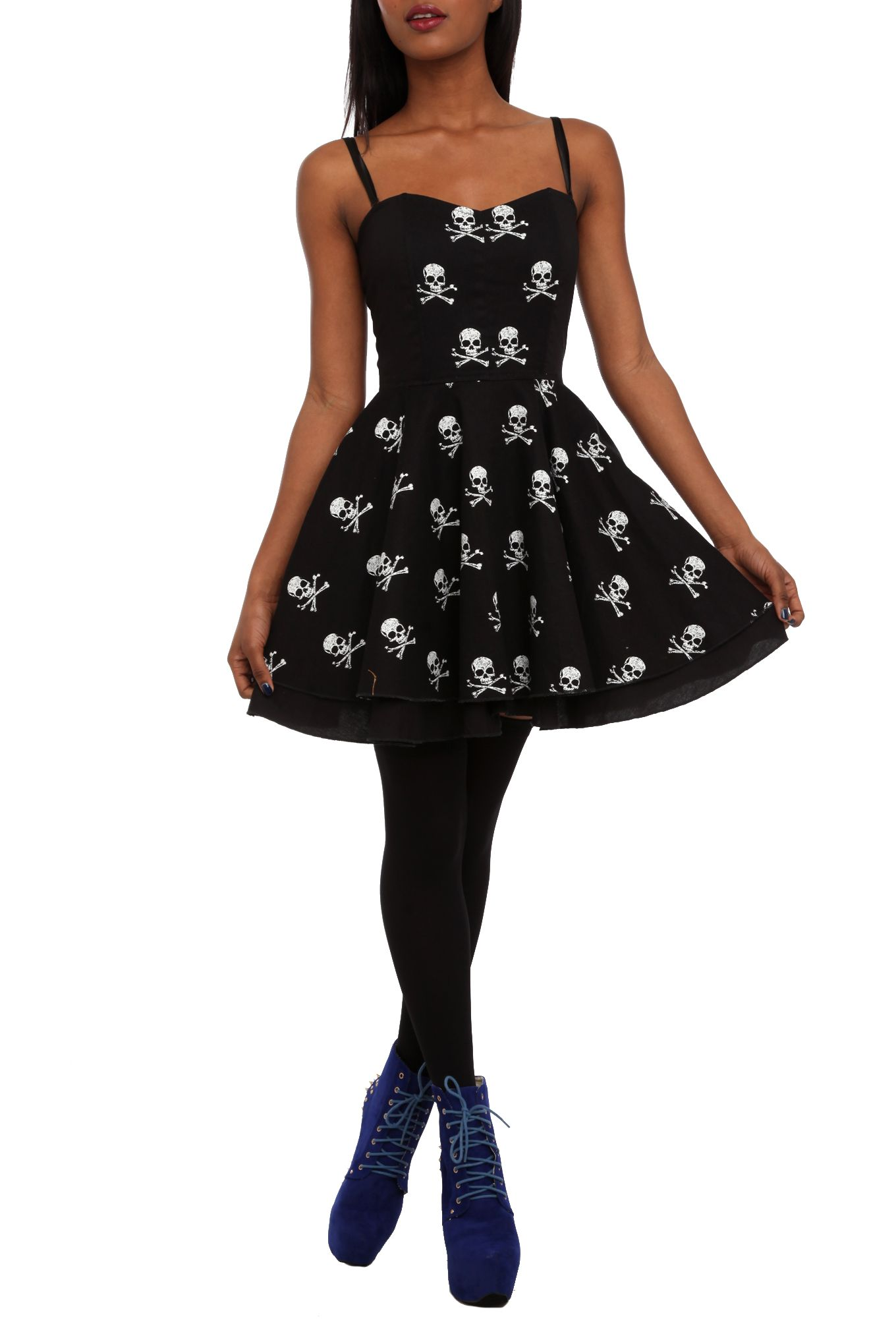 Skull Dress | Hot Topic | Clothes | Pinterest | Skull dress, Hot ...