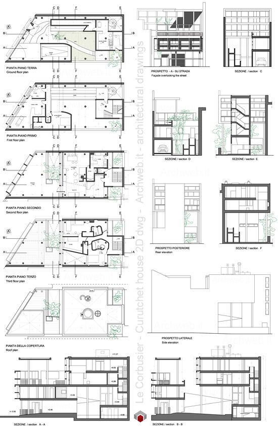 le corbusier curutchet house 2d dwg drawings le corbusier pinterest architektur. Black Bedroom Furniture Sets. Home Design Ideas