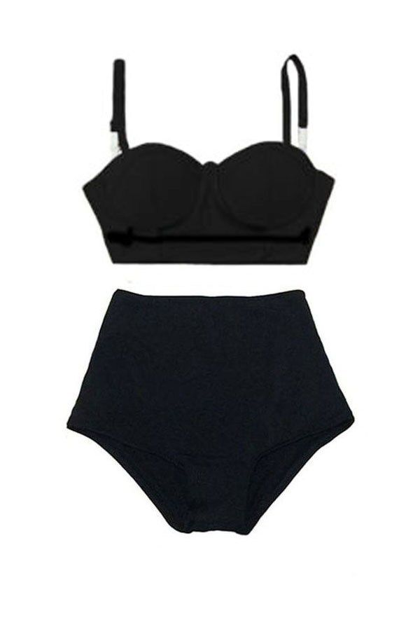 bd8816aa1a17c Black Midkini Top and Tribal Tribute High Waisted by venderstore | Swim |  Pinterest | Summer wear, Swimsuits and Hand washing