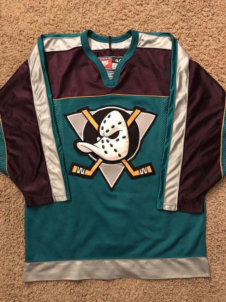 Anaheim Mighty Ducks Vintage Nike Nhl Center Ice Authentic Pro Hockey Jersey L Pro Hockey Hockey Jersey Vintage Nike