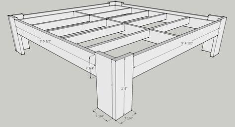Bed frame 2 exterior dimensions master bedroom in 2018 Pinterest