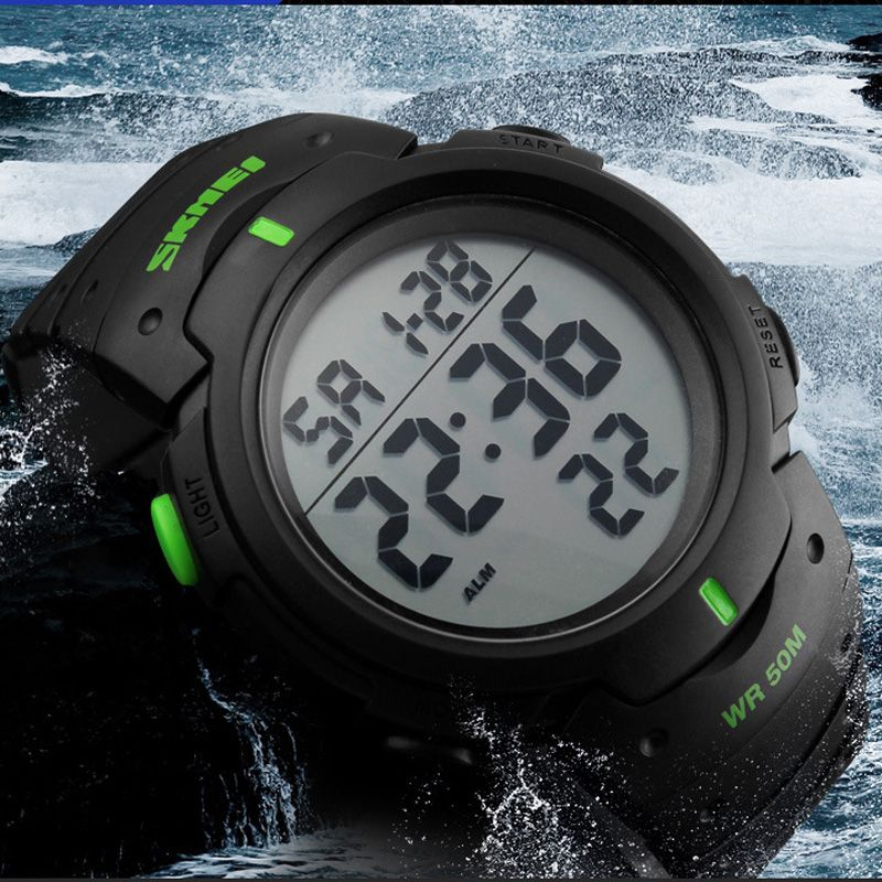 Men's Watches Mens Sports Watches Waterproof Dive 50m Digital Led Military Watch Fashion Casual Electronics Wristwatches Hot Clock Outstanding Features