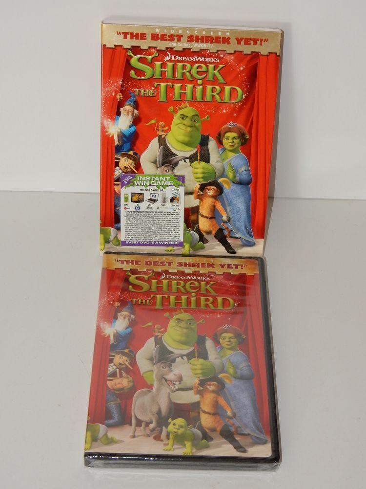 Shrek The Third Dvd 2007 Widescreen Version W Slipcover Sealed Shrek Shrek Dreamworks Ebay