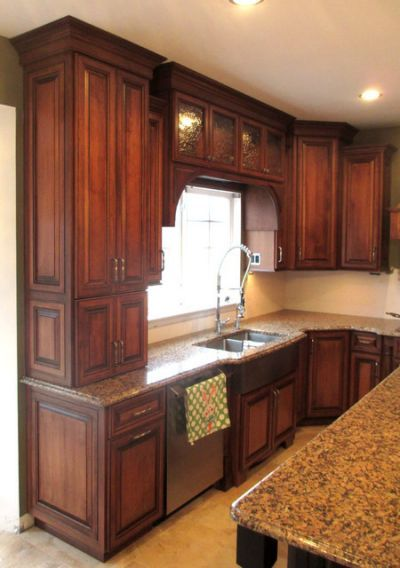 Maple Cabinets With Cherry Stain