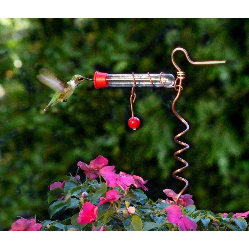 Songbird Essentials Flower Pot One Tube Hummingbird Feeder