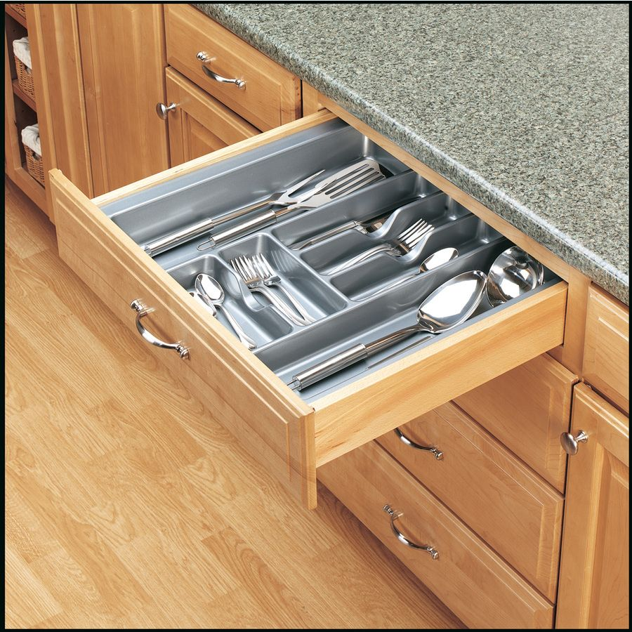Rev-A-Shelf 21.25-in X 21.87-in Plastic Cutlery Insert