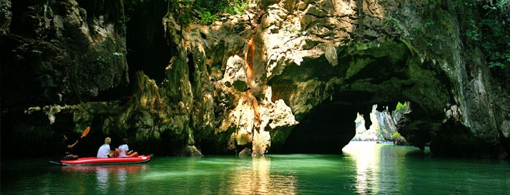 Boat Trip Through The Caves Thailand James Bond Island
