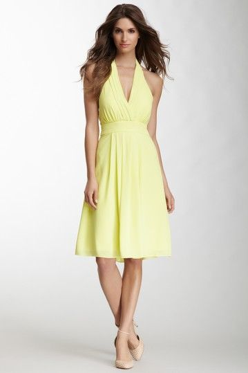Halter Neck Soft Skirt Dress by Vince Camuto on @HauteLook