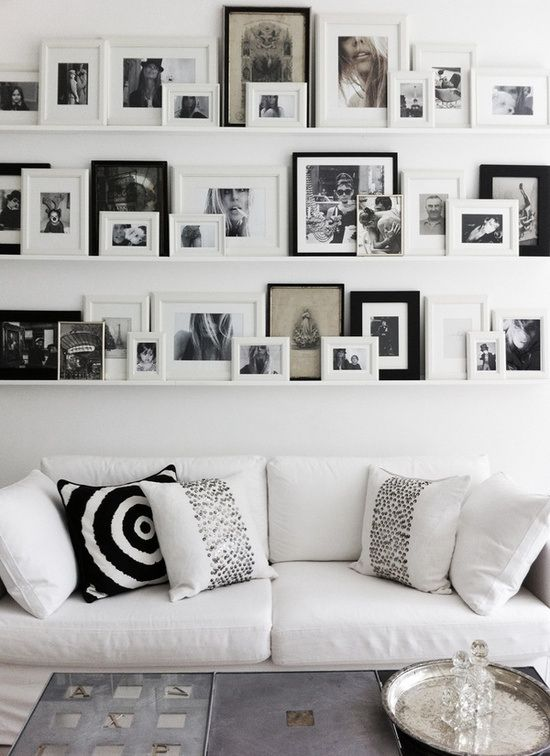 Fotowand   Fotoleisten   Bilderwand   Bilderleisten   Schwarz Weiß