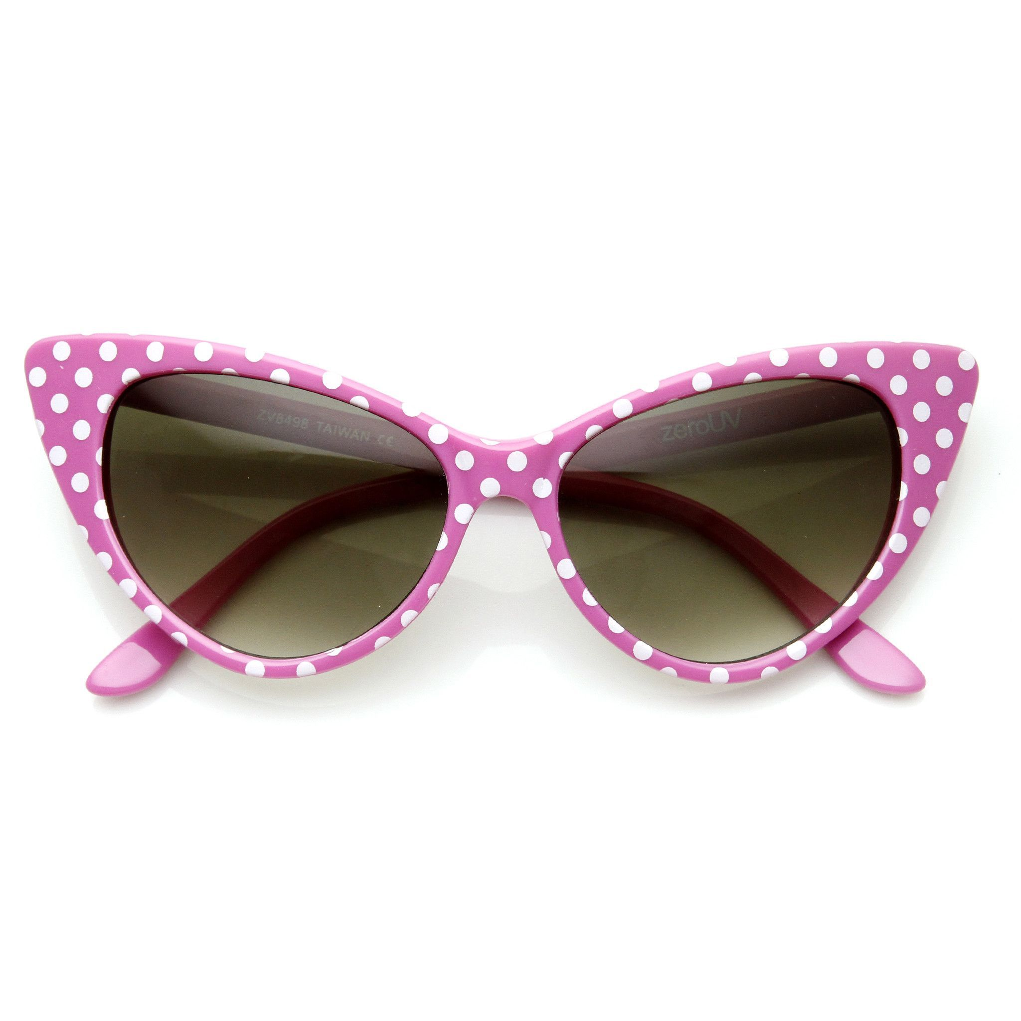441acad564 Retro 1950 s Polka Dot Cat Eye Fashion Sunglasses 8498 from zeroUV