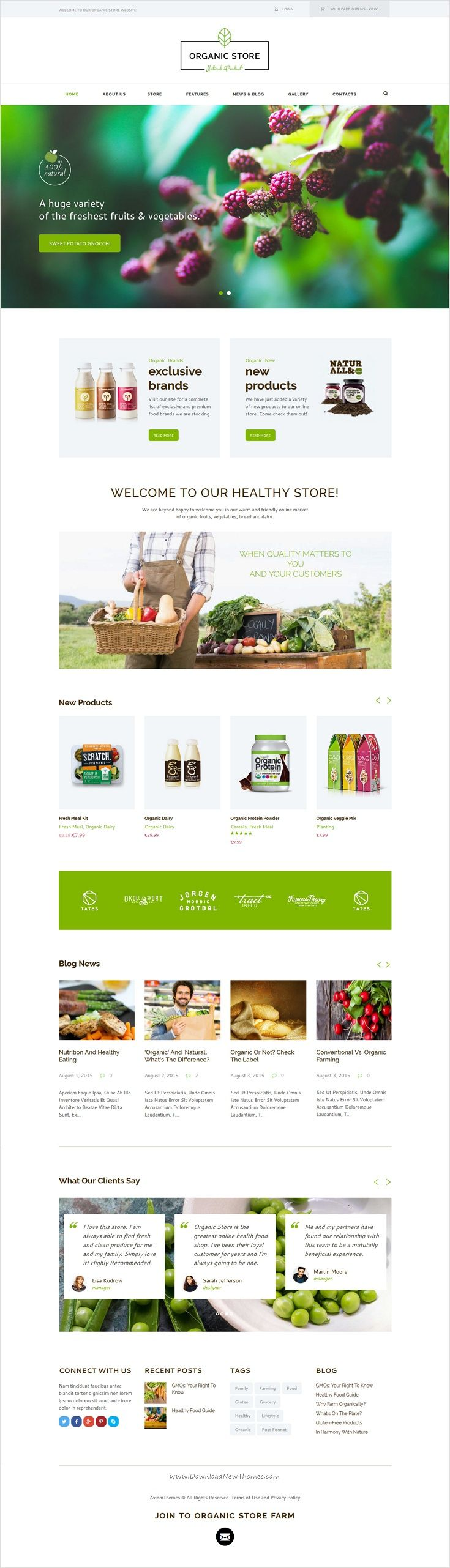 organic food eco products site template. Black Bedroom Furniture Sets. Home Design Ideas