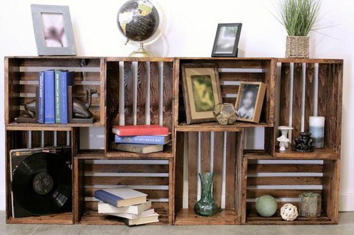 1001 Idees Et Tutos Pour Fabriquer Un Meuble En Cagette Charmant Deco Salon Recup Cagettes Deco Mobilier Ecolo