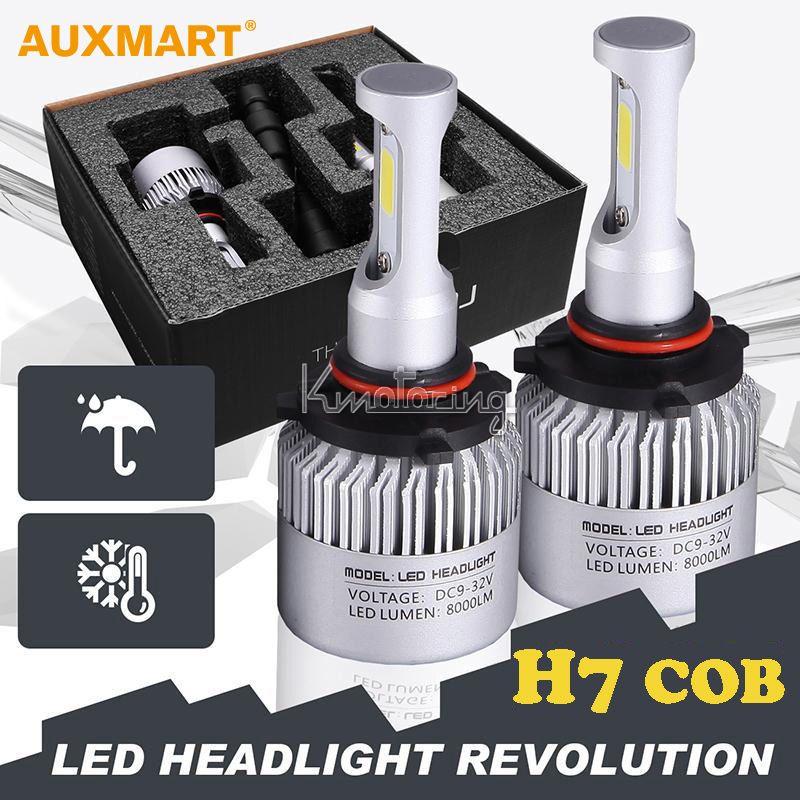Auxmart H7 72W COB LED Car Headlight Bulb Pure White 6500K 8000LM ...