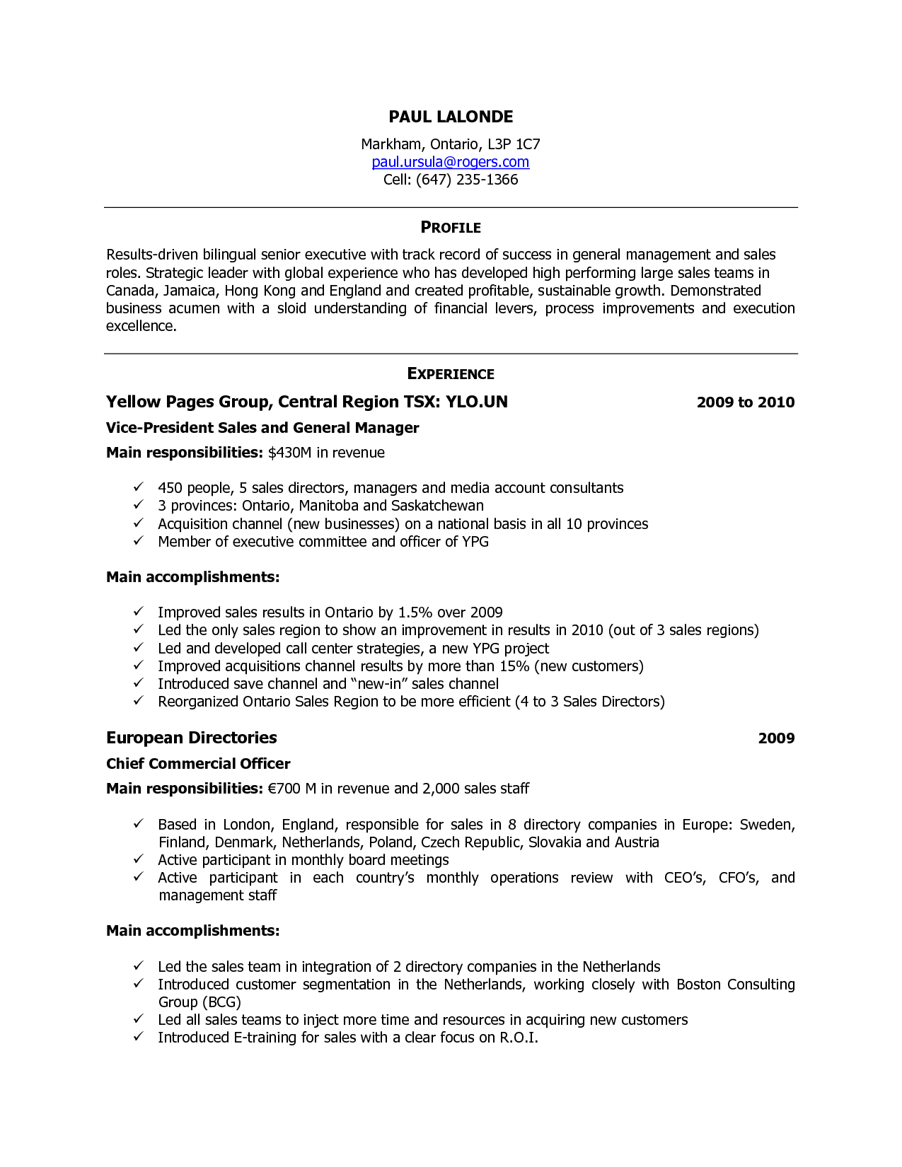 Free Resume Templates Canada Resume template free