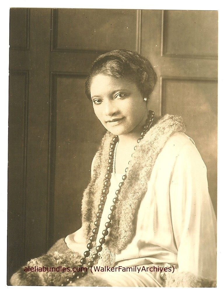 Harlem Salon Hostess Daughter Of Madame Cj Walker Of Hair Product