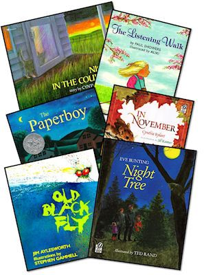clever school teacher- lists books by comprehension strategy, genre study, word study, author study, 6 + 1 traits, common core, etc.