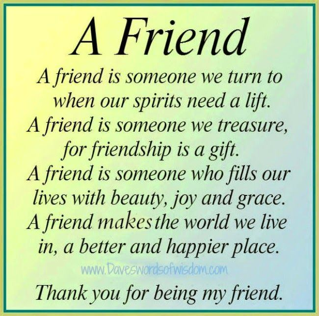 Friendship poem … | Pinteres…
