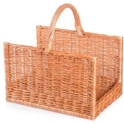 Photo of Firewood basket made of willow square Vetva Ii. – Wicker basket W 50 x D 35 x H 33/47 (cm) Jipro.de