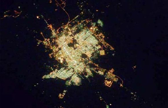 Cities at Night from Space,Riyadh