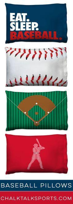 Fun Baseball Pillowcases For Your Baseball Players Room Regalos De Beisbol Habitaciones Para Varones Muebles De Beisbol