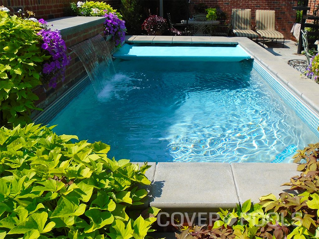 Coverpools June Cover Of The Month Mcrpoolsinc Http Mcrpools Com Aqua Autosave Pool Cover With A Waterfall Pool Cover Pool Waterfall Pool