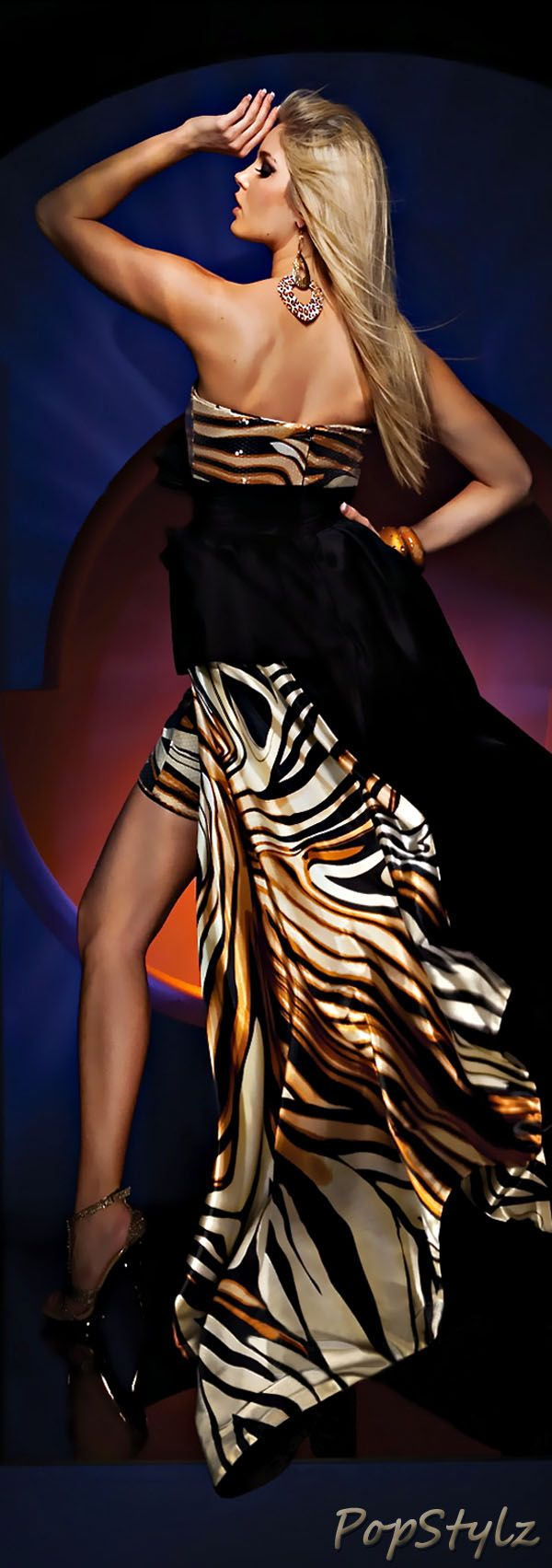 Tony Bowls Animal Print Gown | The House of Beccaria#