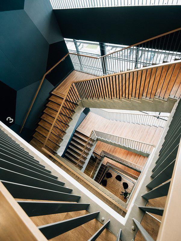 ˚Groupama Arena, Budapest, Head building, VIP Stairs Interior design: MCXVI Architects