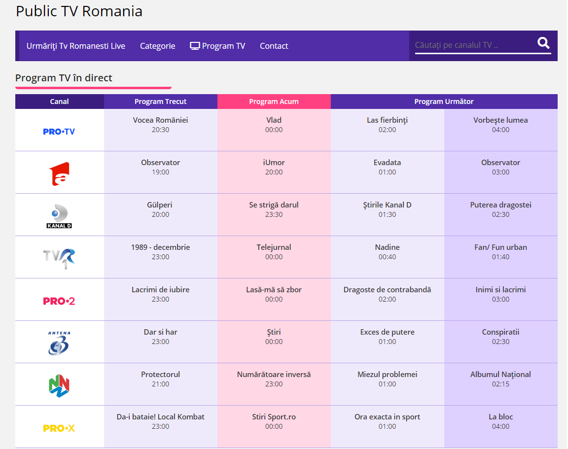 Canale Tv Online Programe Tv Romanesti Gratis Tv Online How To Make