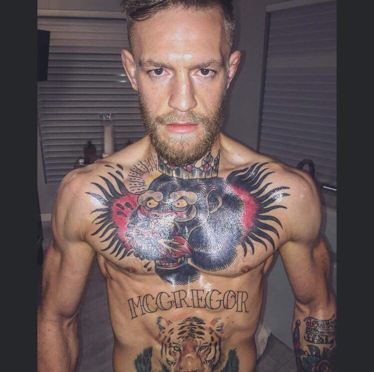 UFC Mega Star Conor Mcgregor Demanding Tattoo pictures
