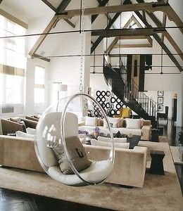 Attrayant Kelly Hoppen  Bubble Chair   I Think Iu0027m Breaking Down And Liking The Idea  Of The Kiddos Having A Swing In Our Living Room Since Our Ceiling Looks  Like ...