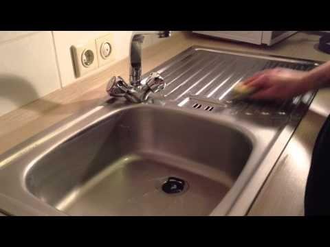 edelstahlbecken reinigen sp lbecken reinigen haushalt pinterest reinigen sp lbecken und. Black Bedroom Furniture Sets. Home Design Ideas