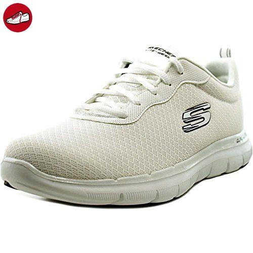 Skechers Damen Flex Appeal 2.0-Newsmaker Sneaker, Blau (Navy/Weiss), 35 EU