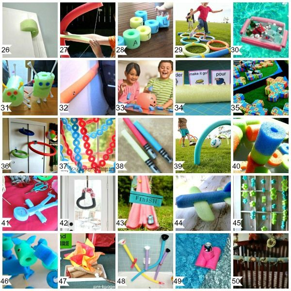 50 Cool Things To Do With Pool Noodles Games A Helicopter Mom Pool Noodle Crafts Pool Noodles Noodles Games