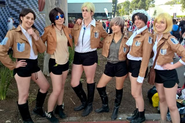 14 Super Fun Anime Cosplays: Group Attack on Titan Cosplay http://anime.about.com/od/cosplay/ss/14-Fun-Anime-Cosplays-from-Melbourne-Supanova-Pop-Culture-Expo.htm