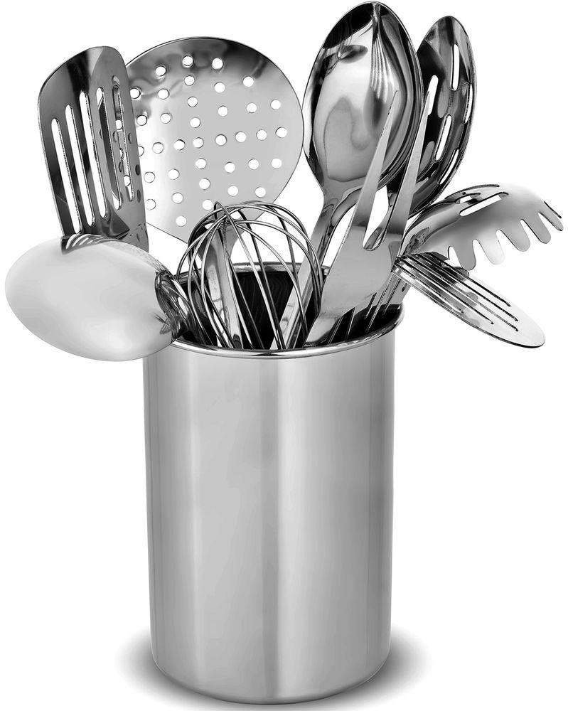 10 Piece Kitchen Utensil Set Stylish Modern Stainless Steel Gadget Cooking Spoon Finedine