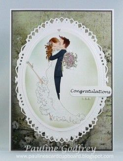 stampingbella - wedding card