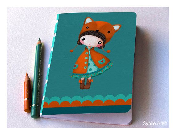 Cute Notebook DIN A6 format (approx 105 x 148 mm ) 20 white sheets (40 recto/verso) Cover printed on hight quality paper. Please contact me for any questions  Thank you for your visit :) Sybile  www.sybile.net