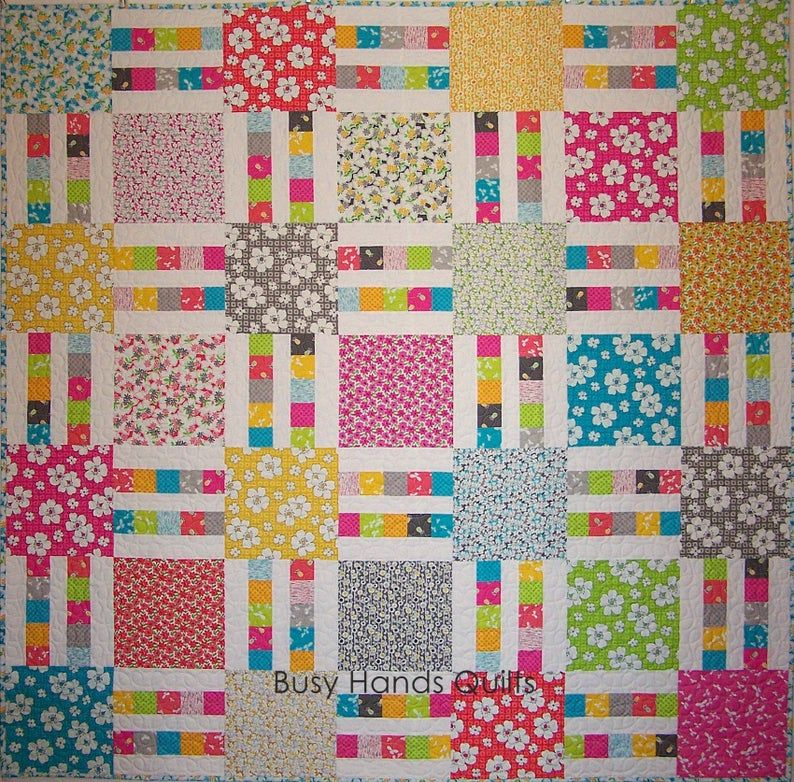 Picket Fence Quilt Pattern PDF Quick and Easy - 7