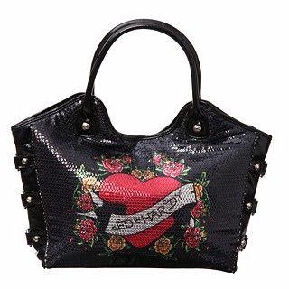 Ed Hardy Fleur Delight Anna Tote Bag Designer Handbags Outlet Whole
