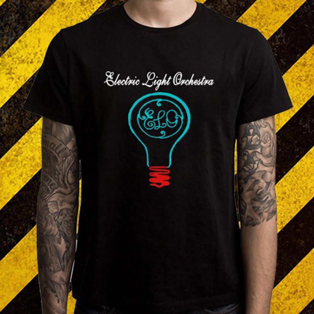 2ba0781d53d Click to Buy    New Electric Light Orchestra ELO Band Logo Men s Black