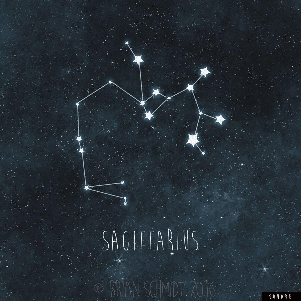 Sagittarius Constellation Art Print, Stars Room Decor ...