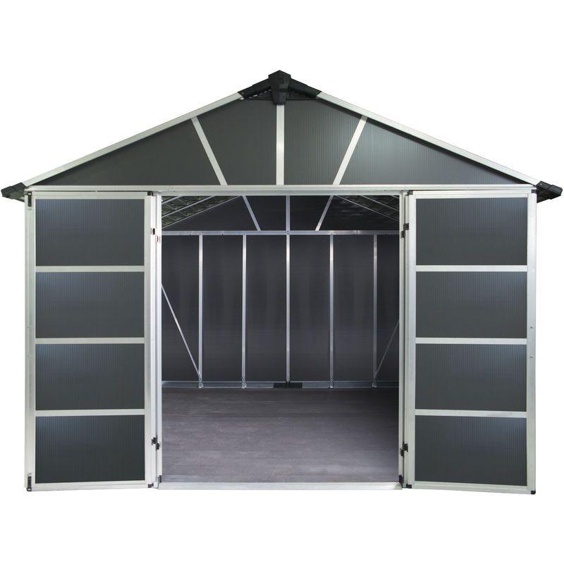 Abri de jardin YUKON 11X13 gris anthracite 11,7m² avec